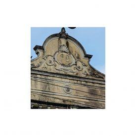 Detalhe da fachada do prédio da Escola de Belas Artes