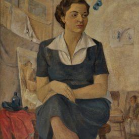Retrato de Mulher de Azul